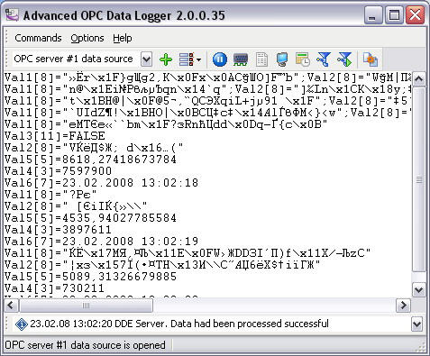 Advanced OPC Data Logger