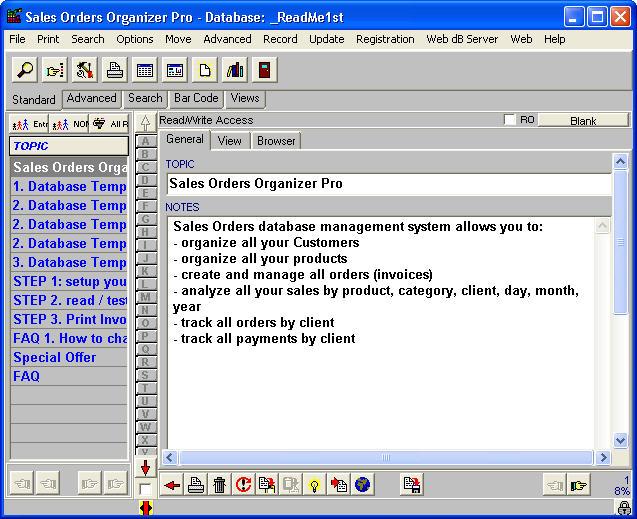 Sales Orders Organizer Pro