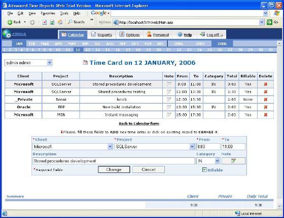ATR Web Professional