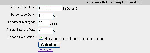 Complex Mortgage Calculator