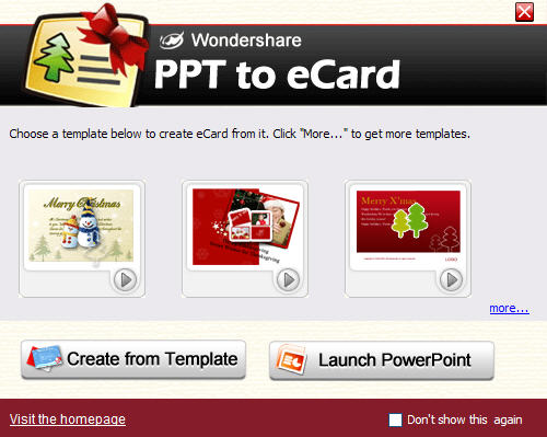Easily make and quickly send eCards within PowerPoint.