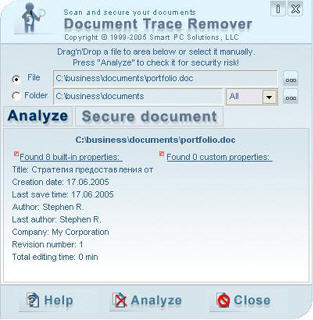 Document Trace Remover