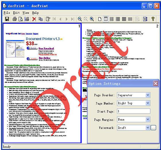 VeryPDF Document Printer (docPrint)