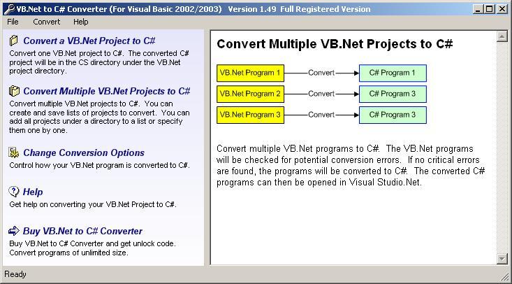 VB.Net to C# Converter