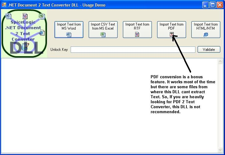 NET Document 2 Text Converter DLL