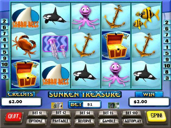 Игровой Sunken Treasure Автомат более того, он