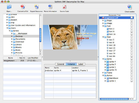 Sothink SWF Decompiler for Mac