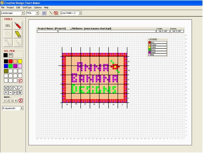 Knitting Symbols For Excel : Creative design chartmaker create charts for