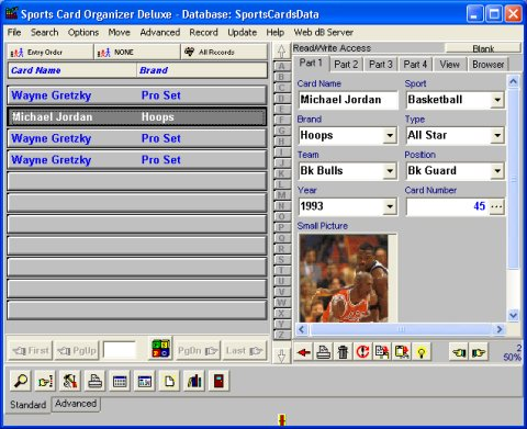 Sports Card Organizer Deluxe Organize Catalog And Manage Sports