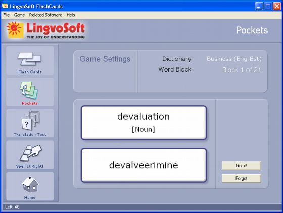LingvoSoft FlashCards