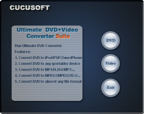 Cucusoft Ultimate DVD + Video Converter Suite