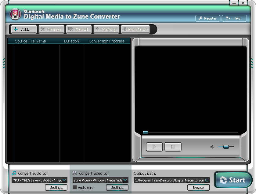 Daniusoft Digital Media to Zune Converter