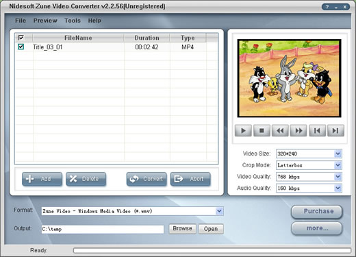 Nidesoft Zune Video Converter