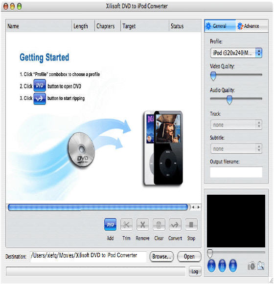 convert dvd movie to new ipod mpeg4 video format on mac os