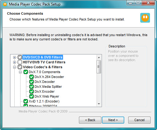 Gom player codec pack
