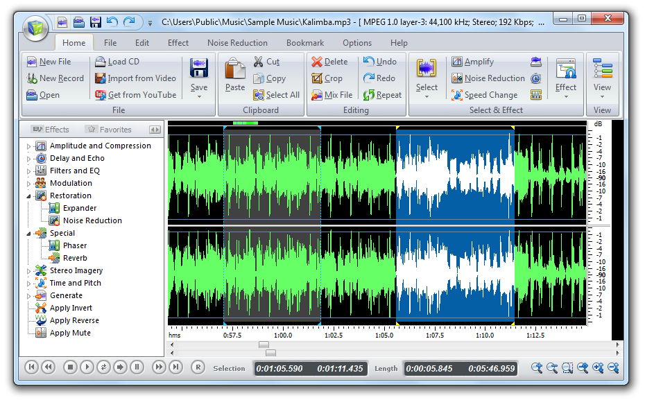 редактор для аудиозаписей