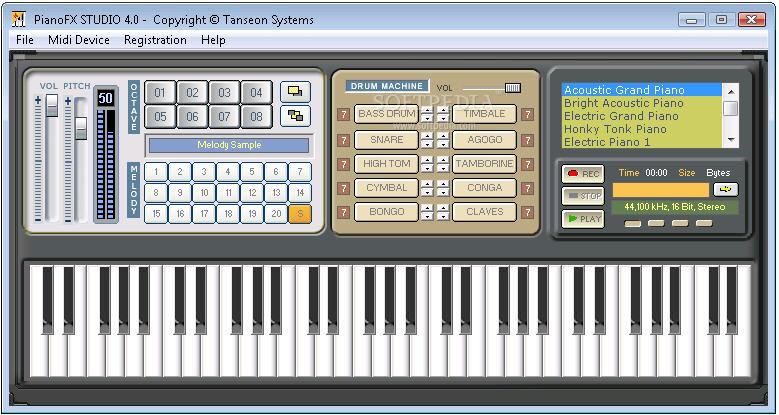 PianoFX Studio 4.0 - программа-синтезатор, превращающий ваш компьютер