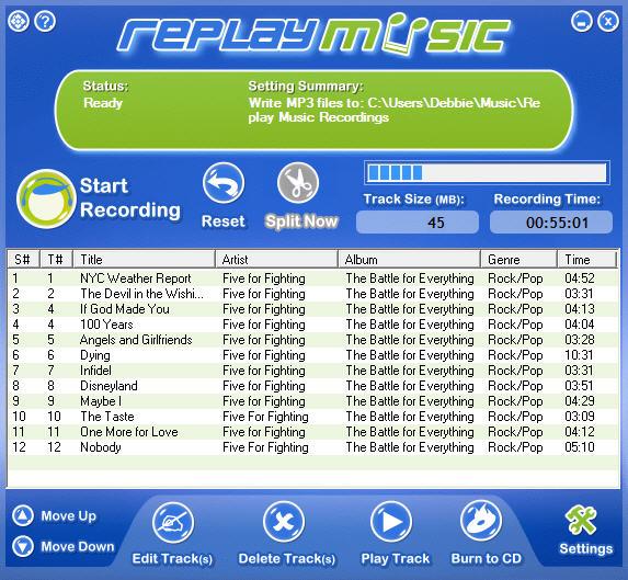 Replay Music - программа для сохранения потокового (Интернет передача