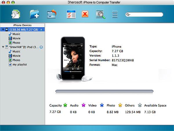 3herosoft iPhone to Computer Transfer 3.7.7.0128+Serial