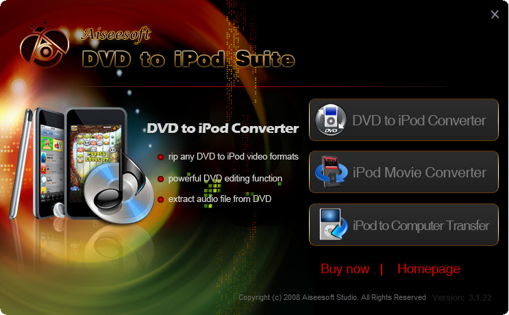 This Suite can change Home DVD to iPod Touch and turn video into MP4