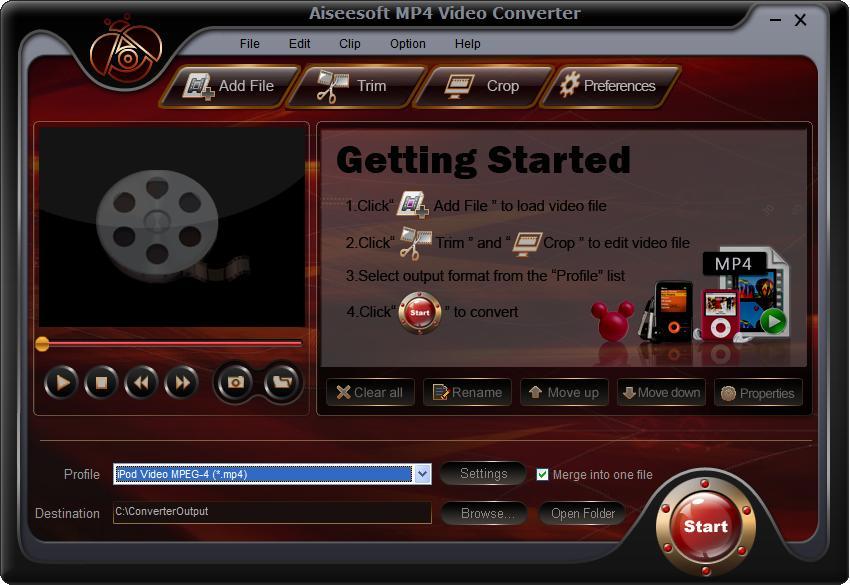 Aiseesoft FLV к конвертеру MP3.