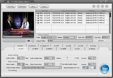 Alldj DVD Ripper Platinum is a all-in-one solution for converting or