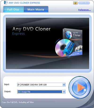 Windows 7 Any DVD Cloner Express 1.3.2 full