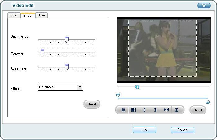 Настройка параметров конвертирования. поддержка MOV, WMV, ASF, 3GP