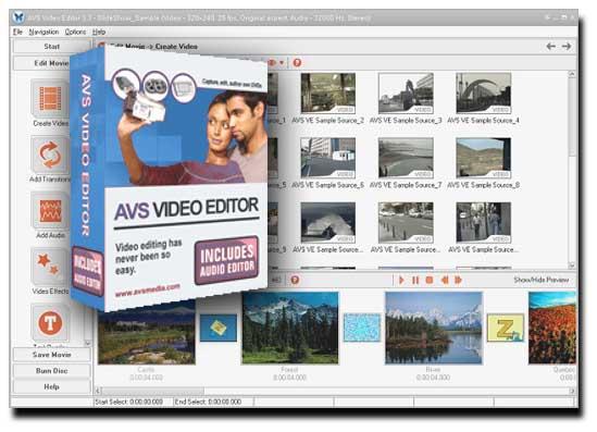 AVS Video Editor - полнофункциональный редактор для сотворения проф