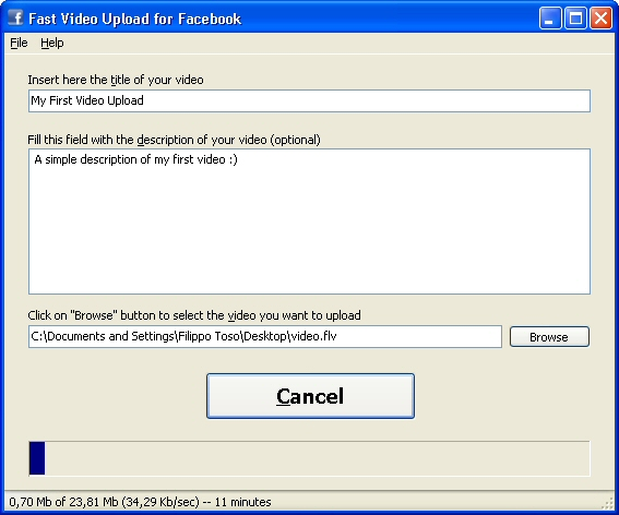 Fast Video Upload for Facebook 2.0.1.18 Free Download