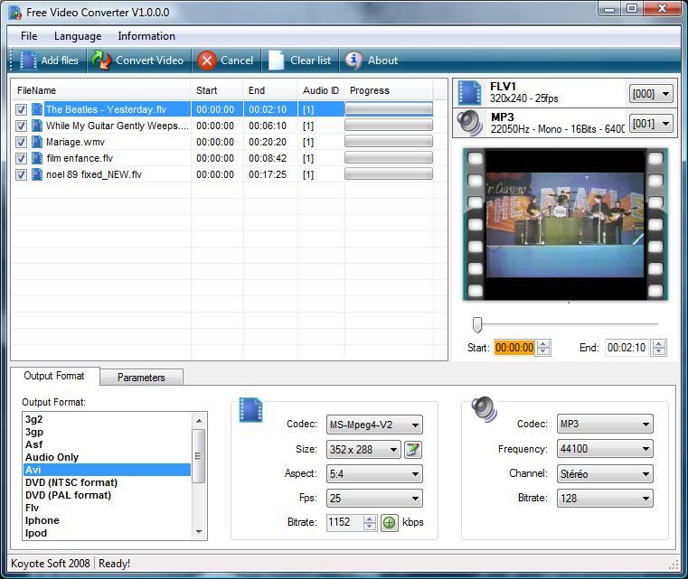 koyote free video converter 30 freeware download