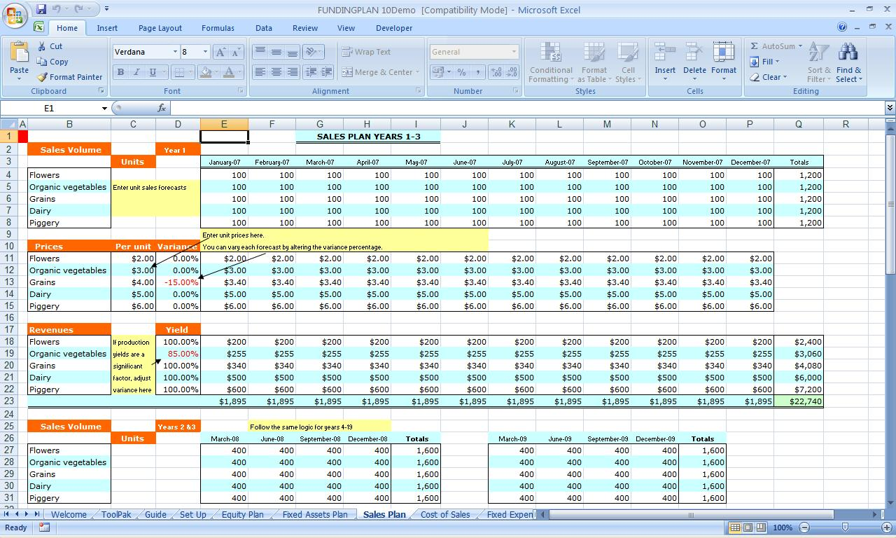 Excel Funding Plan 3 3 Free Download