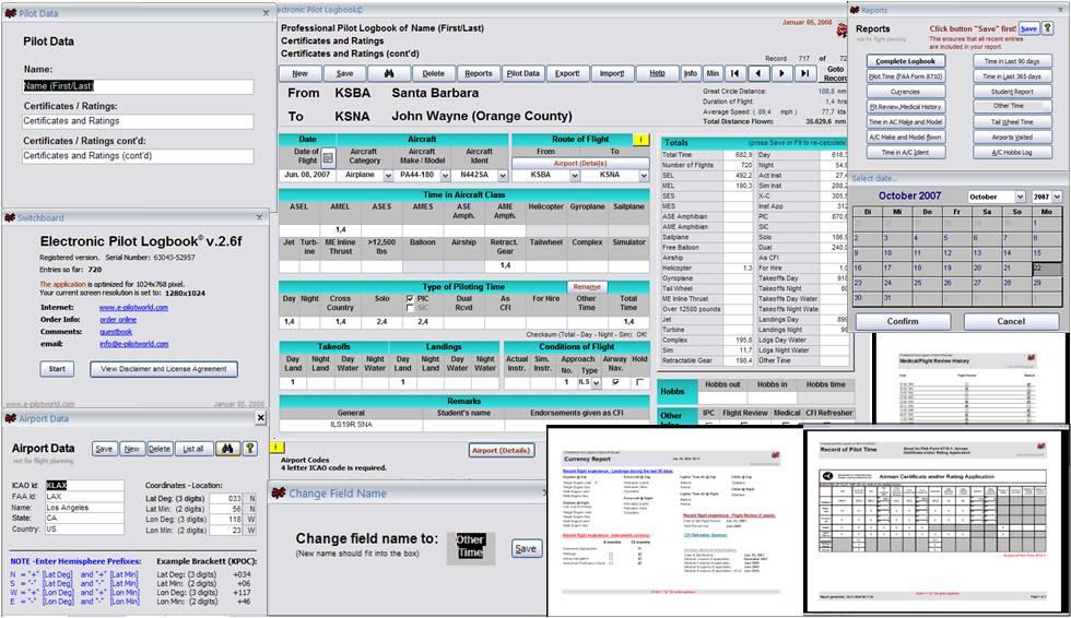 Flight Management System Logbook Downloadable Software