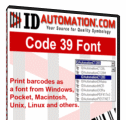IDAutomation Code39 Barcode Font for MAC
