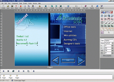 ArtixMedia Menu Studio Christmas Edition is multimedia CD creation