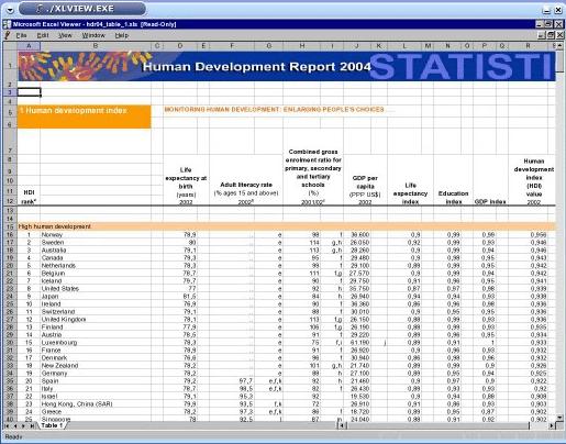 Excel viewer 2007