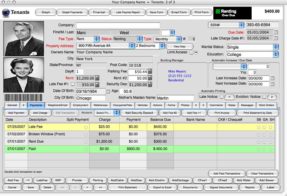 Landlord Report Property Management Software 2009 Free
