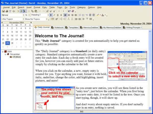 Journal Software download, Journal Software to allow you to write