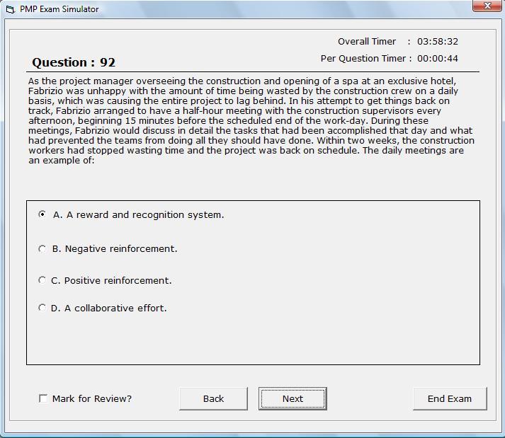 PMI PMP Exam Simulator 4.0 Freeware Download