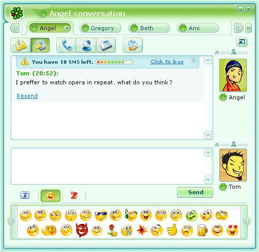 برنامج الدردشة والمراسلة الفورية مع الاصدقاء ICQ 10.0.12390 600-scr-icq