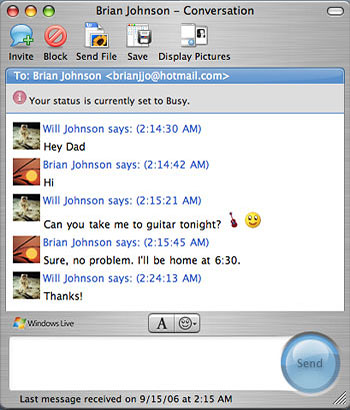 Msn chat for mac