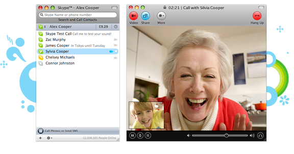 Funny Skype shot