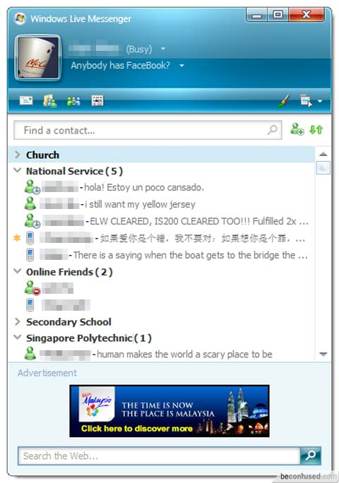 Windows Live Messenger 2008 Windows Live Messenger 8 5