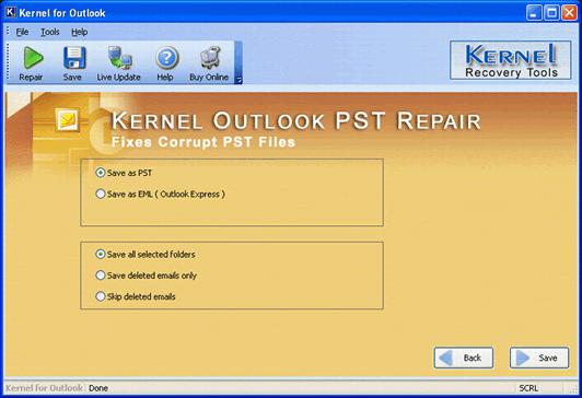outlook pst repair