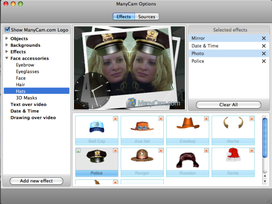ManyCam Virtual Webcam for Mac is a software to use your webcam with ...