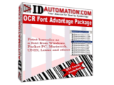 IDAutomation OCR-A and OCR-B Font Advantage Package