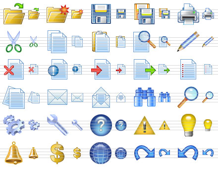 Computer Toolbar Icons Application Toolbar Icons