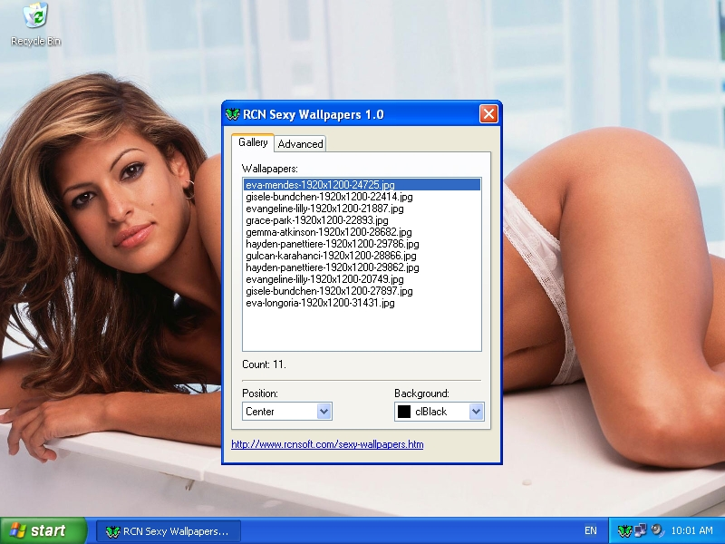 RCN Sexy Wallpapers is one of the best wallpaper changers for Windows.