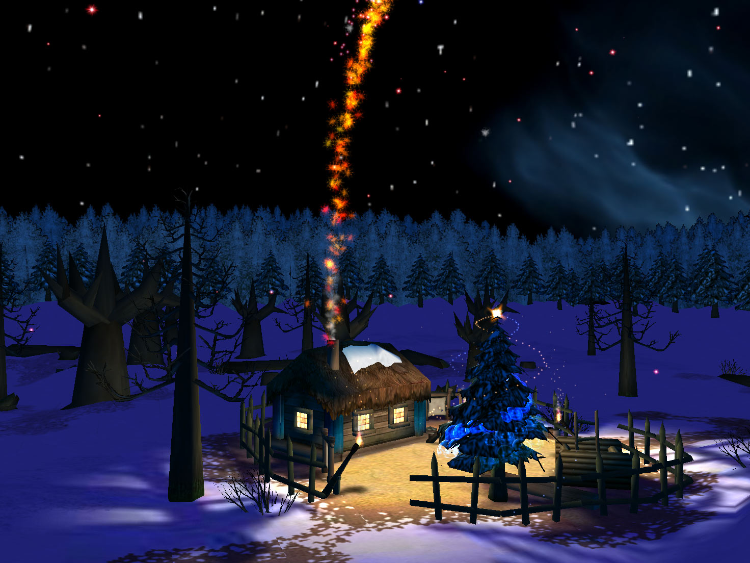 Christmas night 3d screensaver 1 0 free download for Screensaver natale 3d