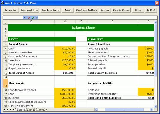 Excel Viewer OCX 3.2 Screenshots